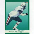 1991 Fleer Football #128 Tony Paige - Miami Dolphins