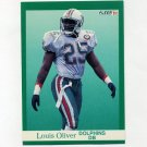 1991 Fleer Football #127 Louis Oliver - Miami Dolphins