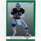 1991 Fleer Football #114 Jay Schroeder - Los Angeles Raiders