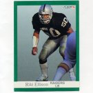 1991 Fleer Football #105 Riki Ellison - Los Angeles Raiders