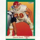 1991 Fleer Football #099 David Szott RC - Kansas City Chiefs