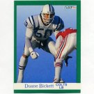 1991 Fleer Football #077 Duane Bickett - Indianapolis Colts
