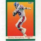 1991 Fleer Football #047 Bobby Humphrey - Denver Broncos