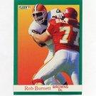 1991 Fleer Football #032 Rob Burnett RC - Cleveland Browns