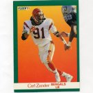 1991 Fleer Football #029 Carl Zander - Cincinnati Bengals