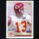 1992 Upper Deck Football #584 Mark Vlasic - Kansas City Chiefs