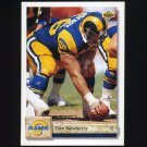 1992 Upper Deck Football #504 Tom Newberry - Los Angeles Rams