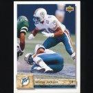 1992 Upper Deck Football #491 Vestee Jackson - Miami Dolphins