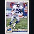 1992 Upper Deck Football #442 William White - Detroit Lions