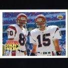 1992 Upper Deck Football #426 Carl Pickens / David Klingler CL - Cincinnati Bengals