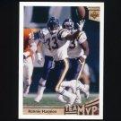 1992 Upper Deck Football #358 Ronnie Harmon MVP UER - San Diego Chargers