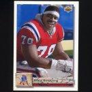 1992 Upper Deck Football #186 Bruce Armstrong - New England Patriots
