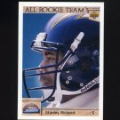 1992 Upper Deck Football #050 Stanley Richard AR - San Diego Chargers
