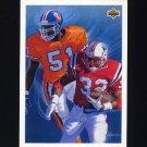 1992 Upper Deck Football #030 Mike Croel / Leonard Russell All-Rookie Team Checklist