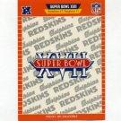 1989 Pro Set Football Super Bowl Logos #17 Super Bowl XVII Washington Redskins / Miami Dolphins