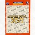 1989 Pro Set Football Super Bowl Logos #16 Super Bowl XVI San Francisco 49ers / Cincinnati Bengals