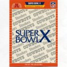 1989 Pro Set Football Super Bowl Logos #10 Super Bowl X Pittsburgh Steelers / Dallas Cowboys