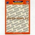 1989 Pro Set Football Super Bowl Logos #06 Super Bowl VI Dallas Cowboys / Miami Dolphins