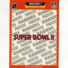 1989 Pro Set Football Super Bowl Logos #02 Super Bowl II Green Bay Packers / Oakland Raiders
