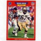 1989 Pro Set Football #469 Vaughan Johnson RC - New Orleans Saints