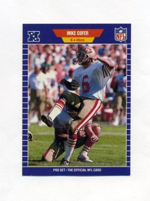 1989 Pro Set Football 371 Mike Cofer RC
