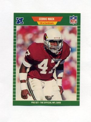 1989 Pro Set Football 332 Cedric Mack