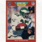 1989 Pro Set Football #323 Anthony Toney - Philadelphia Eagles