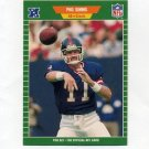 1989 Pro Set Football #291 Phil Simms - New York Giants