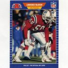 1989 Pro Set Football #254 Larry McGrew - New England Patriots