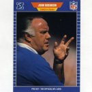 1989 Pro Set Football #210 John Robinson CO - Los Angeles Rams