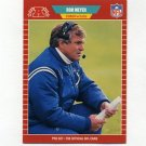 1989 Pro Set Football #166 Ron Meyer CO - Indianapolis Colts