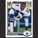 1991 Upper Deck Football #679 James Washington RC - Dallas Cowboys