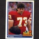 1991 Upper Deck Football #613 Joe Valerio RC - Kansas City Chiefs