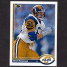 1991 Upper Deck Football #568 Brett Faryniarz RC - Los Angeles Rams