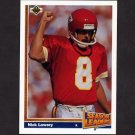 1991 Upper Deck Football #405 Nick Lowery LL - Kansas City Chiefs