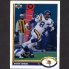 1991 Upper Deck Football #348 Steve Jordan - Minnesota Vikings