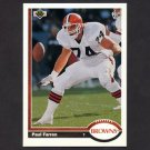 1991 Upper Deck Football #308 Paul Farren - Cleveland Browns