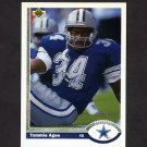 1991 Upper Deck Football #257 Tommie Agee - Dallas Cowboys