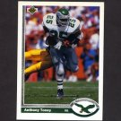 1991 Upper Deck Football #252 Anthony Toney - Philadelphia Eagles
