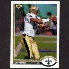 1991 Upper Deck Football #250 Eric Martin - New Orleans Saints