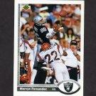 1991 Upper Deck Football #180 Mervyn Fernandez - Los Angeles Raiders