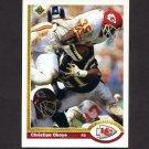 1991 Upper Deck Football #176 Christian Okoye - Kansas City Chiefs