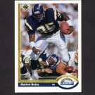 1991 Upper Deck Football #147 Marion Butts - San Diego Chargers