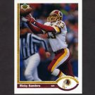 1991 Upper Deck Football #141 Ricky Sanders - Washington Redskins