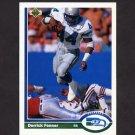1991 Upper Deck Football #139 Derrick Fenner - Seattle Seahawks