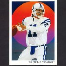 1991 Upper Deck Football #081 Jeff George / Team Checklist - Indianapolis Colts