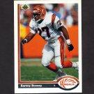 1991 Upper Deck Football #069 Barney Bussey RC - Cincinnati Bengals