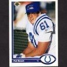 1991 Upper Deck Football #062 Pat Beach - Indianapolis Colts