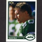1991 Upper Deck Football #046 Dennis Byrd - New York Jets