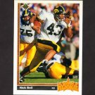 1991 Upper Deck Football #029 Nick Bell RC - Los Angeles Raiders